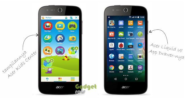 Acer Liquid Z320 kids center