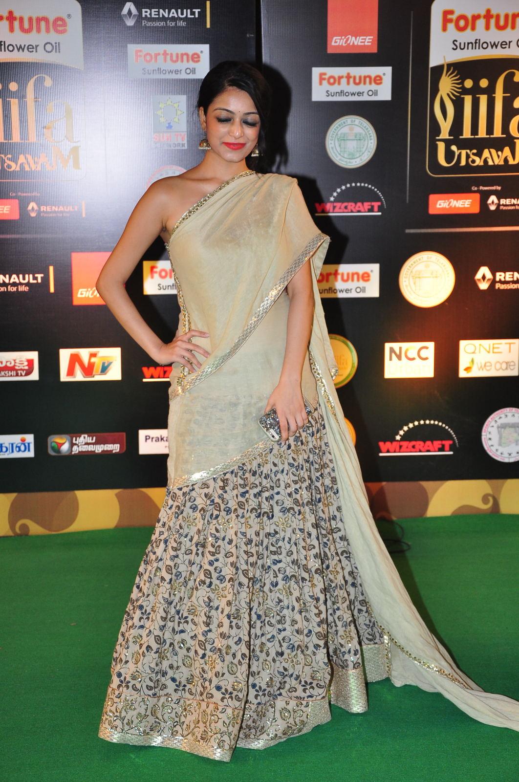 janani iyer glamorous in saree-HQ-Photo-10
