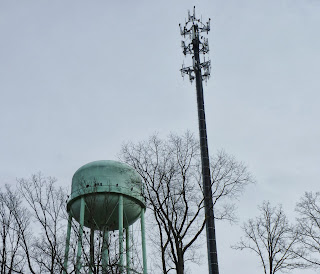water tower and cellphone tower