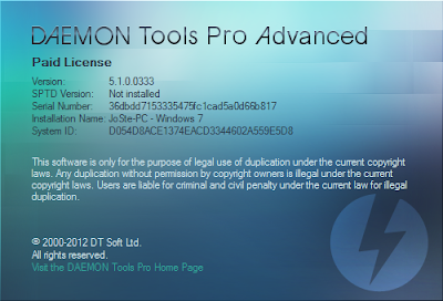 DAEMON Tools Pro Advanced v5.1.0.0333