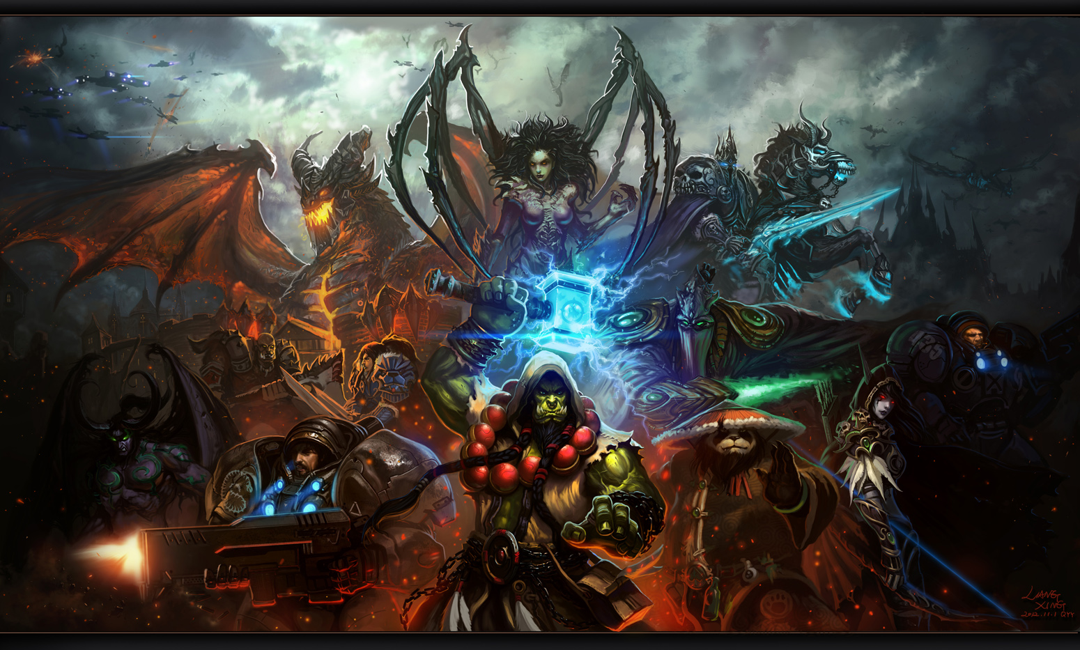 http://3.bp.blogspot.com/-wK5QRzkz6Js/UOQQ1LJ9GEI/AAAAAAAAFLM/mlZh9fQByp0/s1600/Starcraft-vs-World-of-Warcraft-All-Stars-by-Liang-Xing.jpg