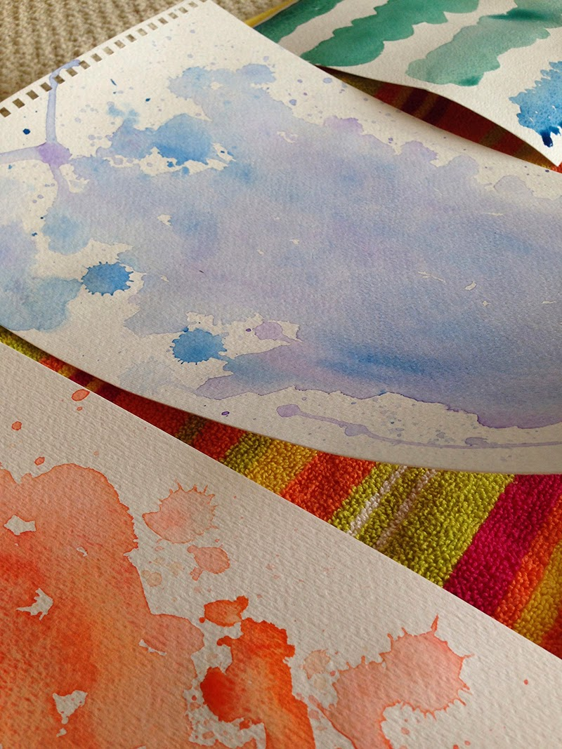 watercolor pages - Creating Watercolor for our Spring Catalog
