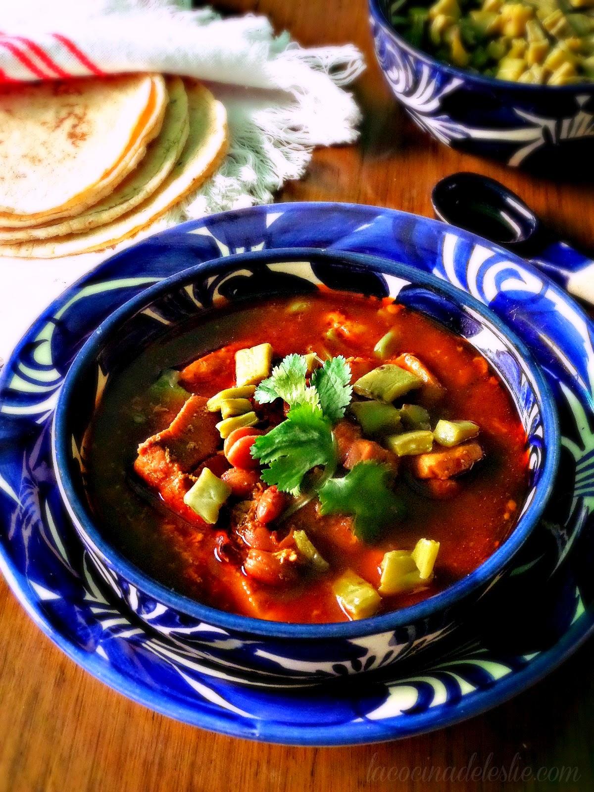 Pork Chile Colorado Stew - lacocinadeleslie.com