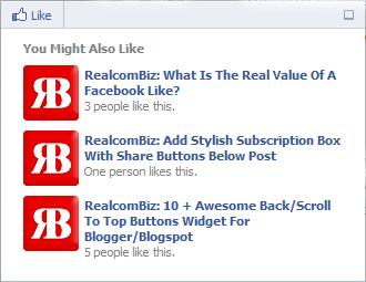 Facebook Posts Recommendation Bar