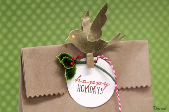 7 ideas de packaging navideño: bird topper | http://bizcochosysancochos.blogspot.com/