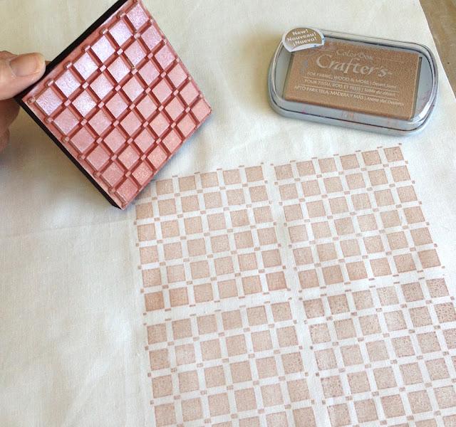 stamping fabric lisa fulmer
