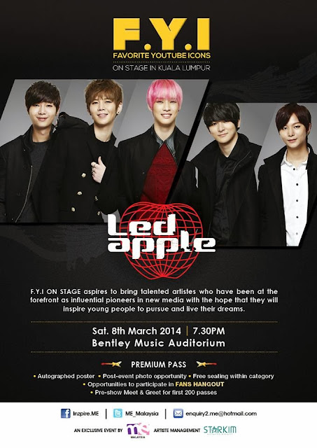 F.Y.I On Stage with LEDapple in Kuala Lumpur