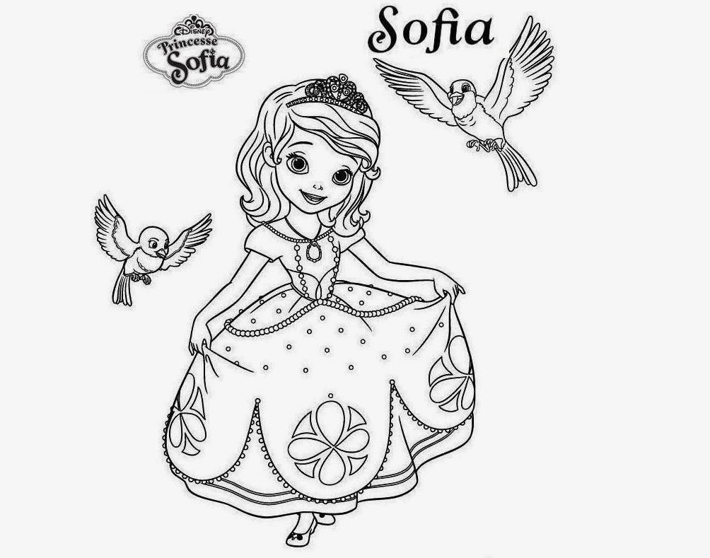 Colours drawing wallpaper beautiful disney princesses for Sofia the princess coloring pages