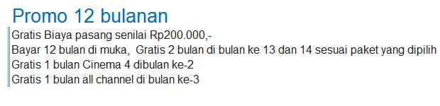 Promo Indovision Oktober 2014 dengan pembayaran tahunan