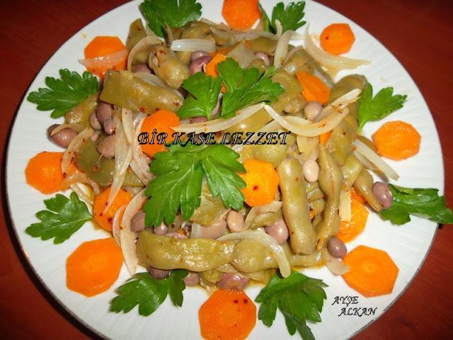 taze fasulye salatası