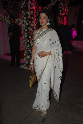 Bollywood Actress Aditi Govitrikar White Saree Photos