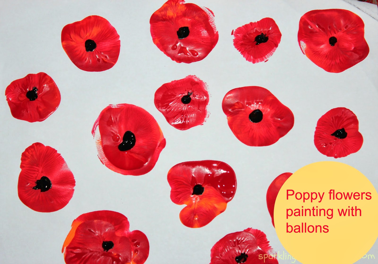 Poppy Flowers Painting With Kids Sparklingbuds