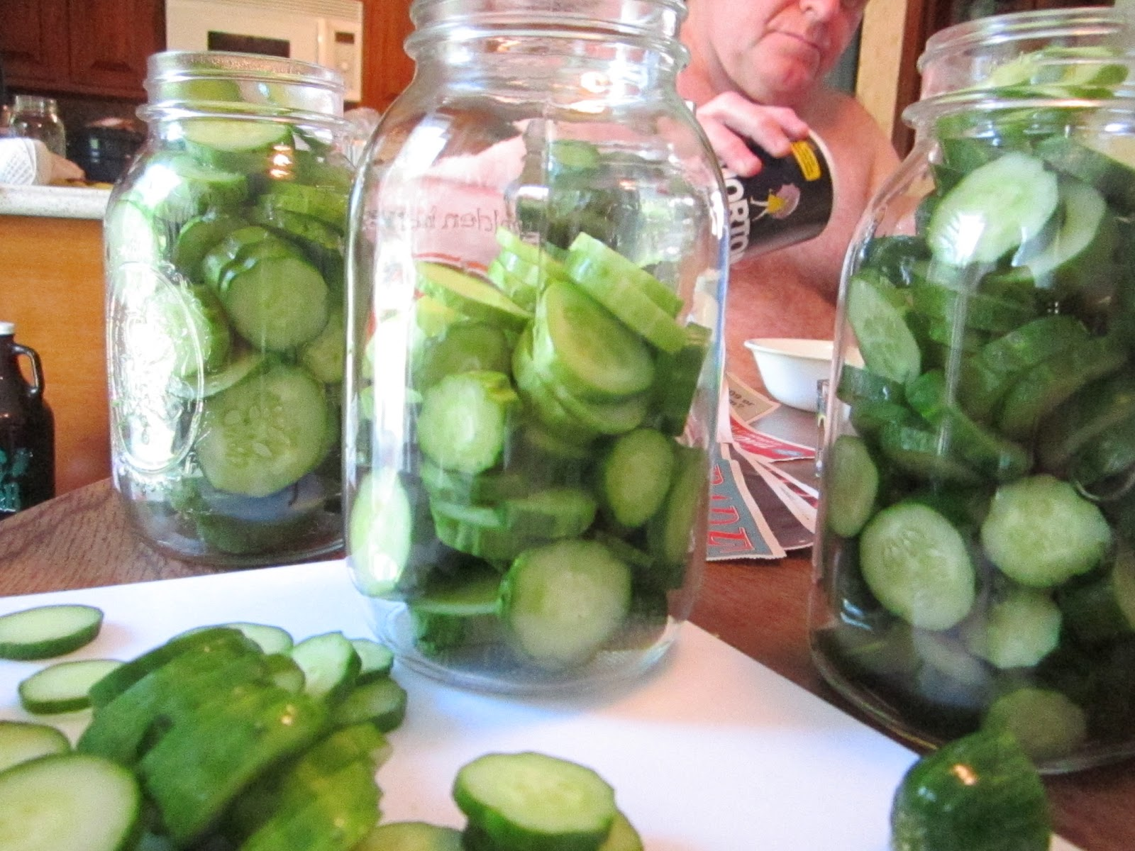 The Retro Redhead: Canning: Spicy Refrigerator Dill Pickles