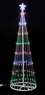 Christmas Tree Multi color LED Light Decoration Ideas Style