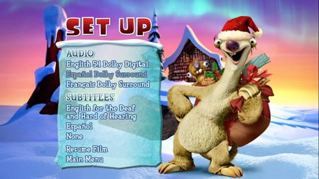 La Era de Hielo Una Navidad Tamaño Mammut 2011 DVDR Menu Full Español Latino ISO Descargar