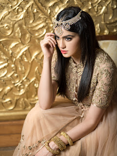 Adah Sharma Gorgeous Pics in Designer Lehenga Choli Amazing Beauty Sizzling Fashion Statement