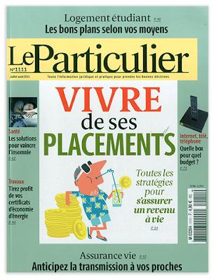 Clod illustrations dossier Vivre de ses placements, Le Particulier N°1111 juillet-août 2015.