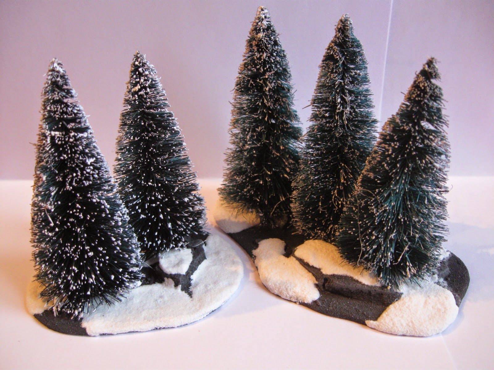 Wargame News and Terrain How to Easy Snowy Pine Forest Bases