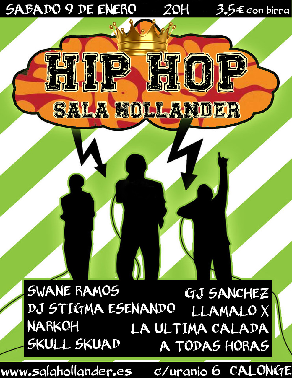 Hip hop weekend en sala hollander 8pistas for Sala hollander