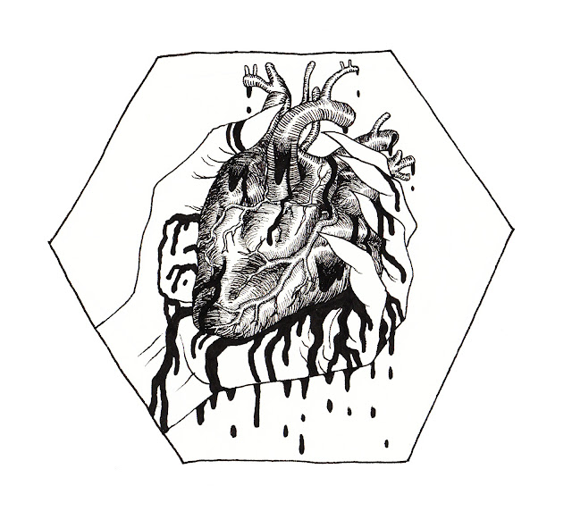 heart blood claw dripping