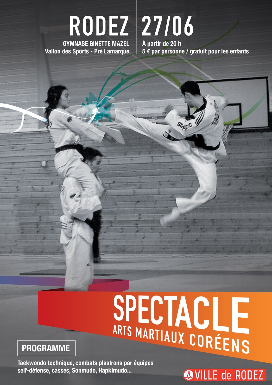 Spectacles Arts Martiaux Coréens le 27 Juin
