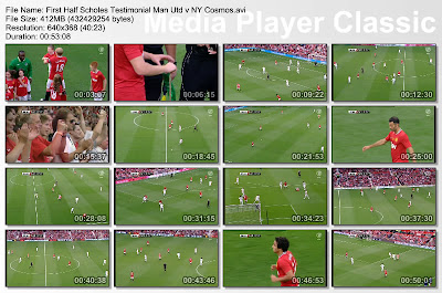 Video Legenda MU, Video Manchester United, Testimonial Paul scholes
