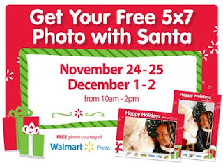 Free 5×7 Photo with Santa at Walmart