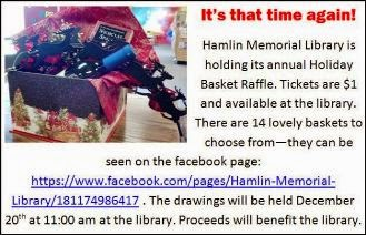 12-20 Hamlin Library Annual Basket Raffle