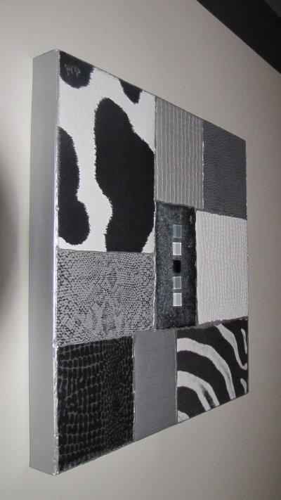 Tableau decoration murale dans les tons du gris