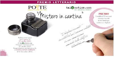 """""""mistero in cantina"""": al via la prima edizione del premio letterario di cantina ponte"""