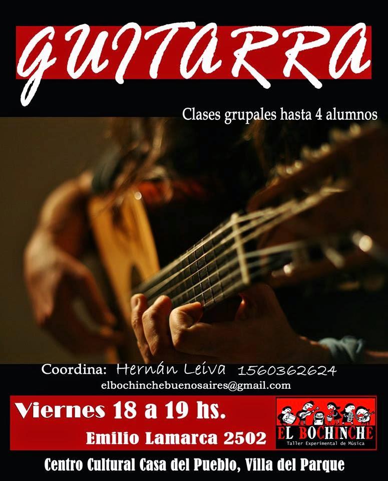 A partir del Viernes 6/2 vuelve el taller de guitarra.
