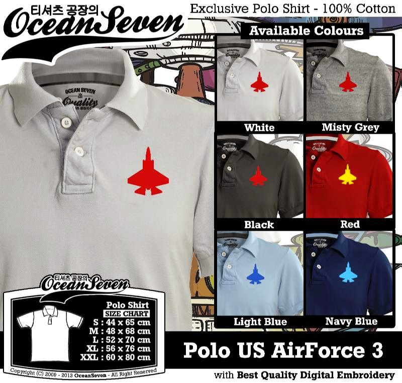 Kaos Polo US AirForce 3