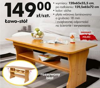 Ławo - stół z Biedronki ulotka