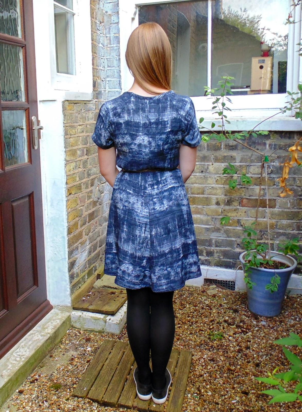 Diary of a Chain Stitcher: Papercut Patterns Clover Dress in a Monochrome Printed Viscose