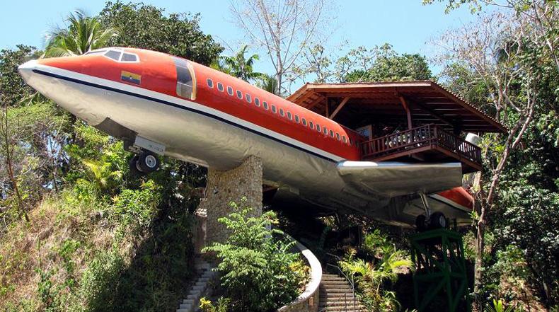 El Boeing 727 de 1965 convertido en un hotel de lujo en Costa Rica