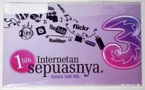 Cara daftar Paket dan aktivasi Internet 3 ( three )