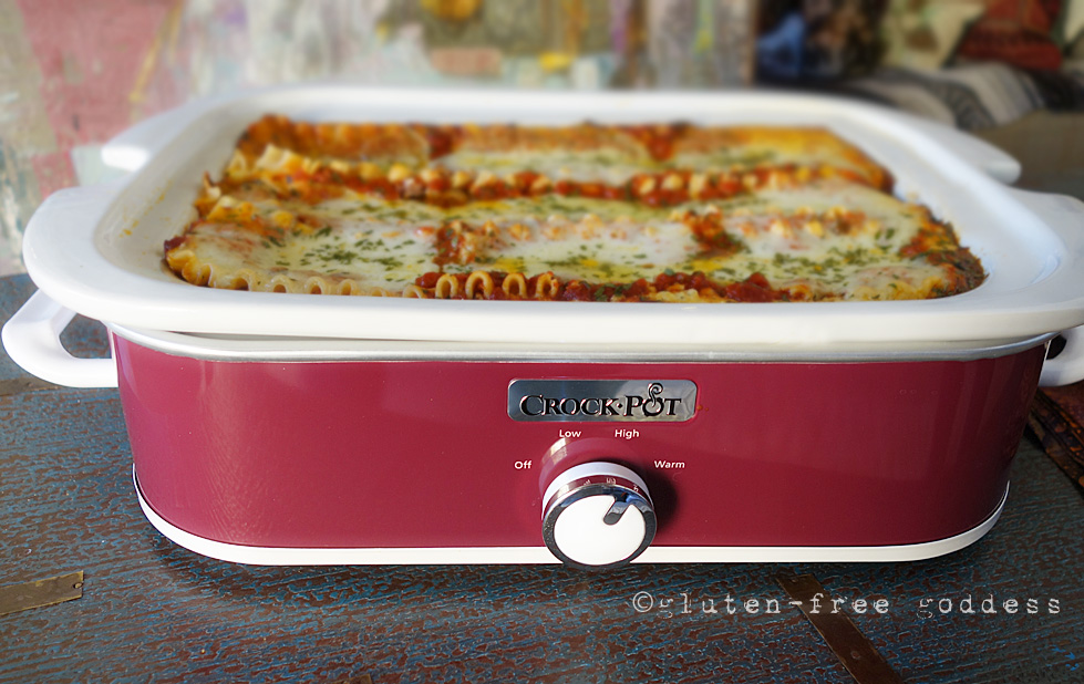 fabulous gluten-free lasagna- made easy with the new CrockPot Slow ...