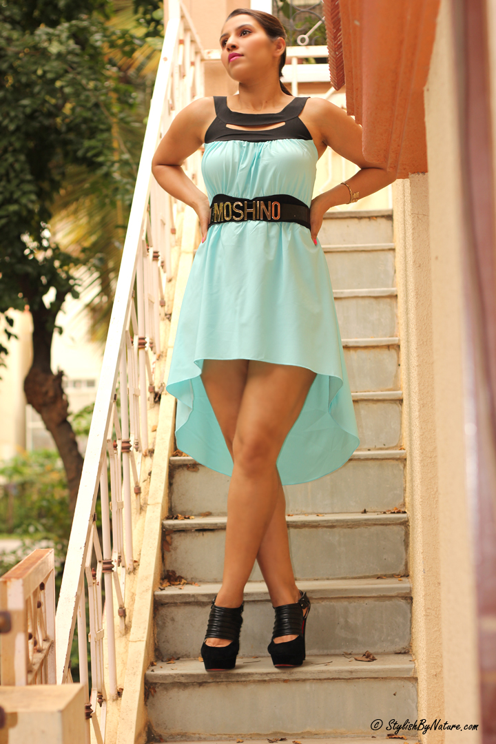 High low dress india