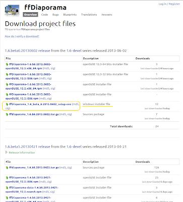 baixar ffDiaporama 1.6 - beta 6