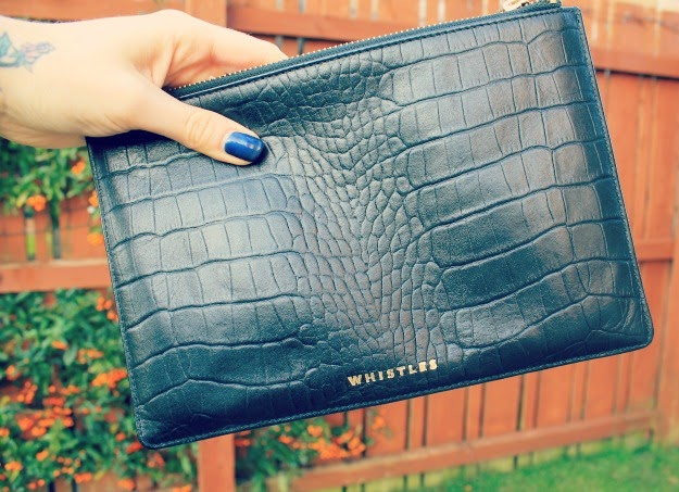 Black Whistles Clutch Bag