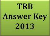 TRB Answer Key 2013