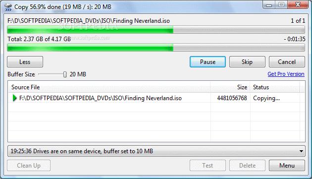 TeraCopy Pro hỗ trợ tăng tốc copy