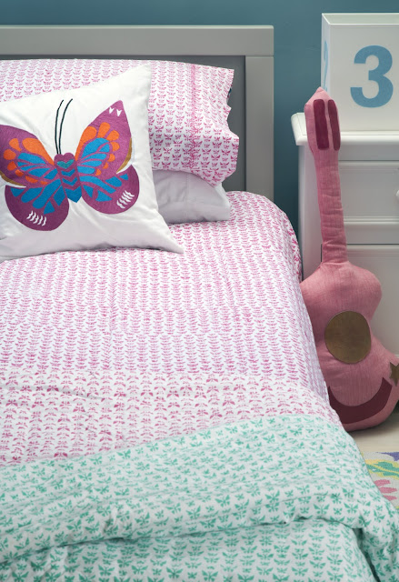 Lulu & Nat | Girl's Bedding | Butterfly Duvet Cover
