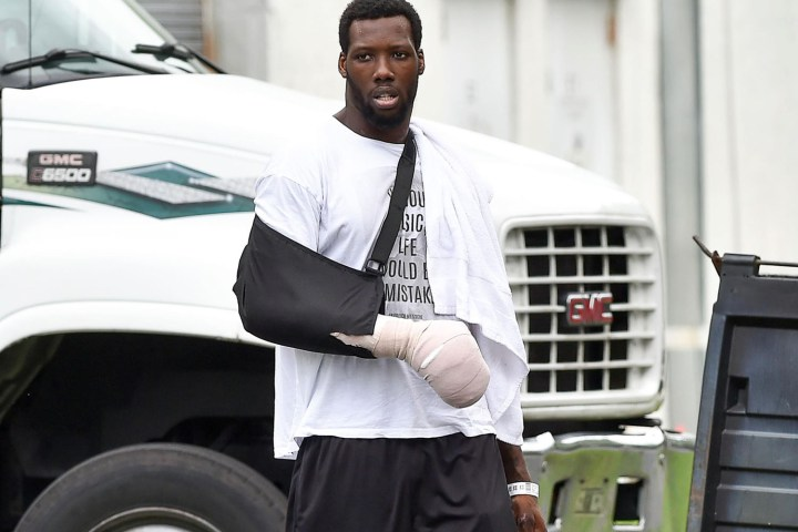 jason pierre paul tries to duck media with really bad decoy report