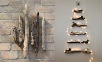 arbol de navidad ecologico con ramas de arboles caidas