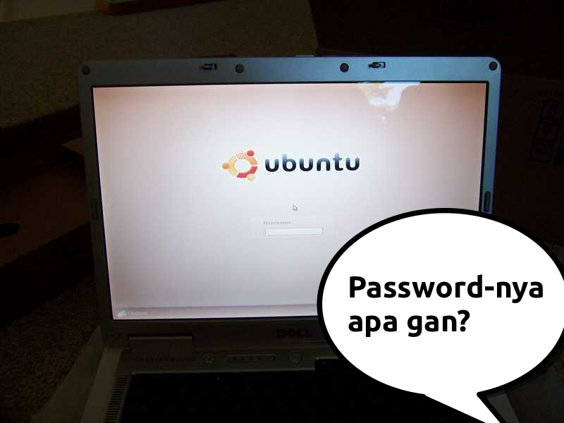 Mereset password di Ubuntu dengan live CD