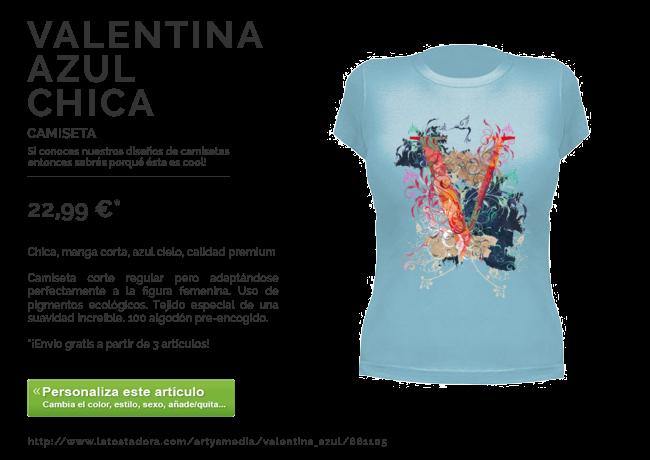 Camiseta VALENTINA AZUL CHICA