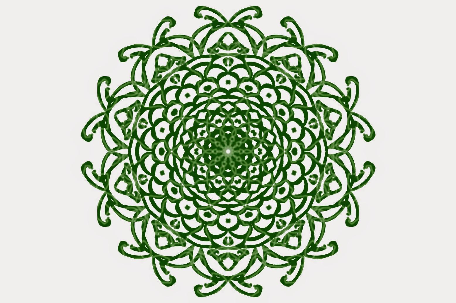 green mandala digital art
