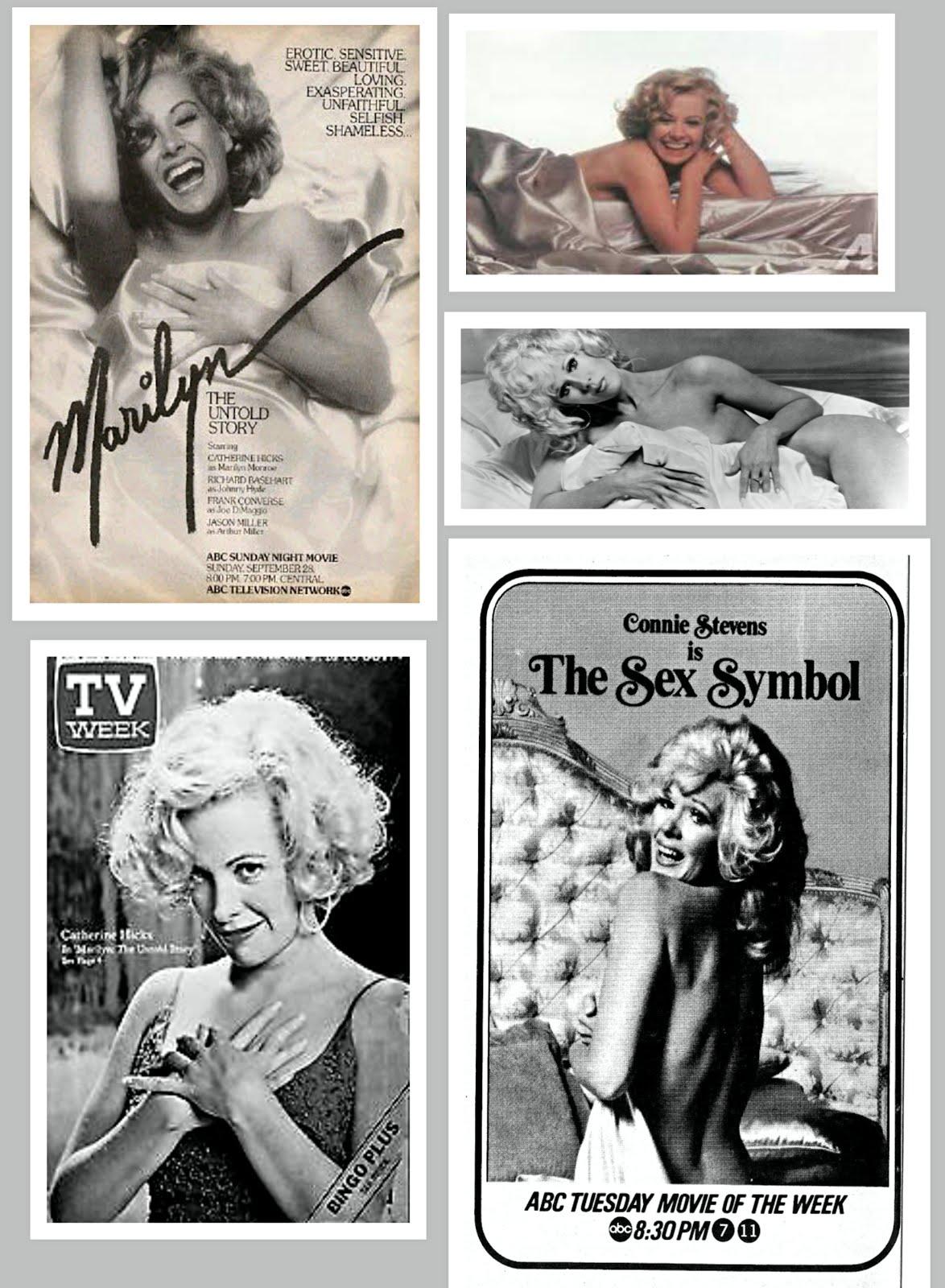 Connie Stevens, Catherine Hicks MARILYN MONROE, The Sex Symbol - 2 TV bio film DVDs