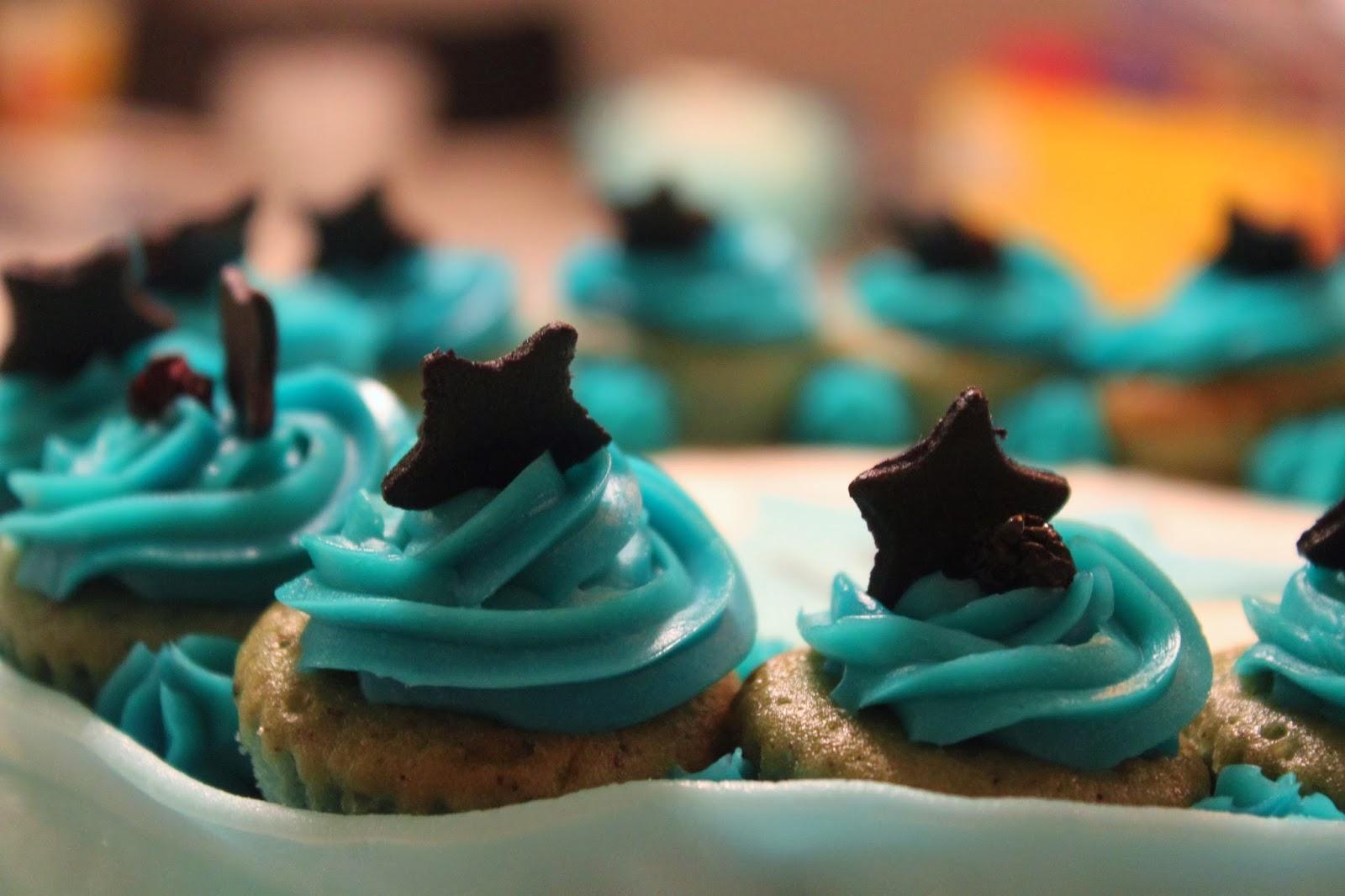 blå flødeskum